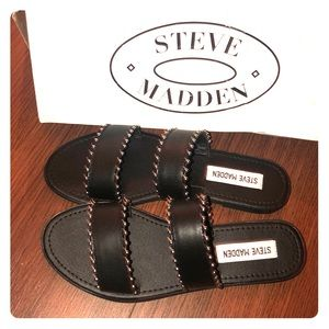 Brand New Steve Madden Black Studded Sandals